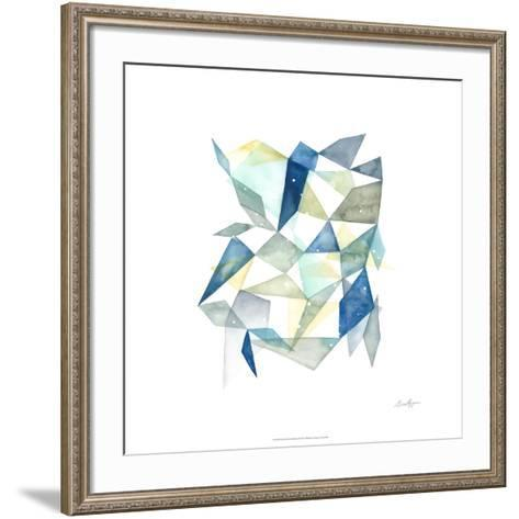 Geometric Jewel Abstract I-Grace Popp-Framed Art Print