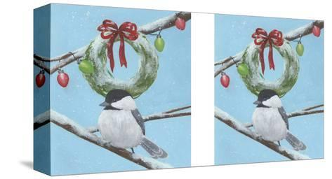 Chickadee Christmas III 2-Up-Grace Popp-Stretched Canvas Print