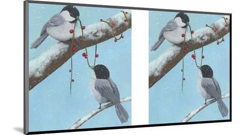 Chickadee Christmas IV 2-Up-Grace Popp-Mounted Art Print