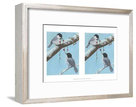 Chickadee Christmas IV 2-Up-Grace Popp-Framed Art Print