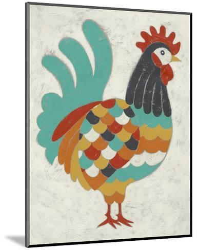 Country Chickens I-Chariklia Zarris-Mounted Art Print