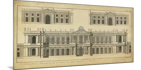 Elevation du Grand Hotel-Denis Diderot-Mounted Giclee Print
