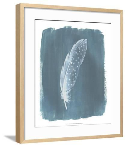Feathers on Dusty Teal III-Grace Popp-Framed Art Print