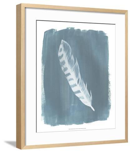 Feathers on Dusty Teal IV-Grace Popp-Framed Art Print