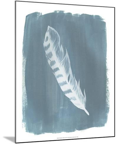 Feathers on Dusty Teal IV-Grace Popp-Mounted Art Print