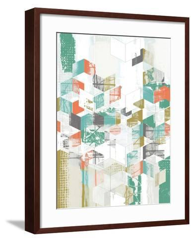 Box Grid I-Jennifer Goldberger-Framed Art Print