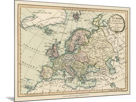 Historic Map of Europe-Laurie & White-Mounted Giclee Print