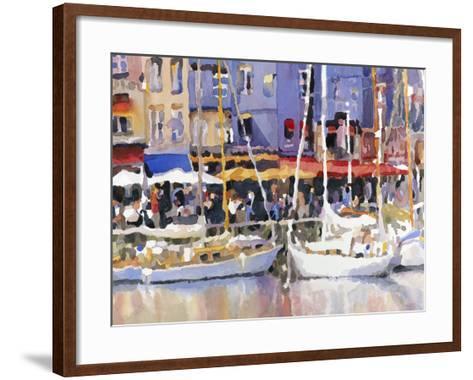 Honfleur Harbor-Edie Fagan-Framed Art Print