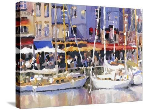 Honfleur Harbor-Edie Fagan-Stretched Canvas Print