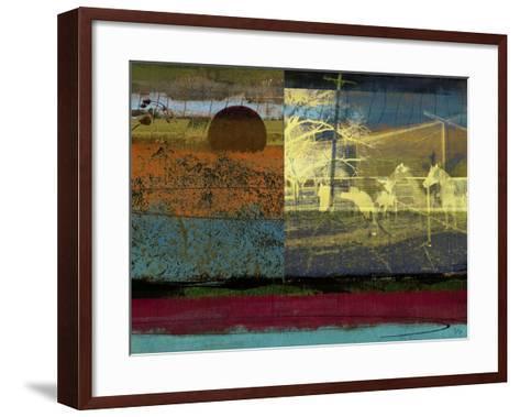 Horse & Hay Collage-Sisa Jasper-Framed Art Print