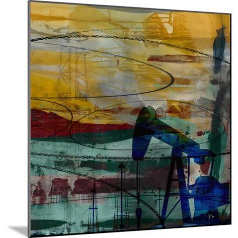 Oil Rig Abstract-Sisa Jasper-Mounted Giclee Print