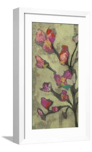 Impasto Flowers I-Jennifer Goldberger-Framed Art Print
