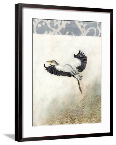 Waterbirds in Mist IV-Naomi McCavitt-Framed Art Print