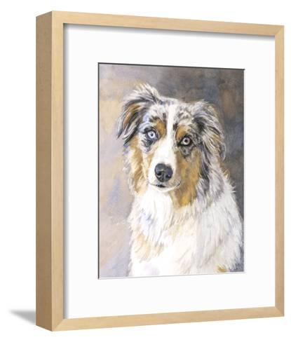 Maddie Australian Shepherd-Edie Fagan-Framed Art Print