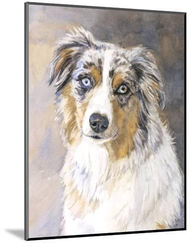 Maddie Australian Shepherd-Edie Fagan-Mounted Art Print