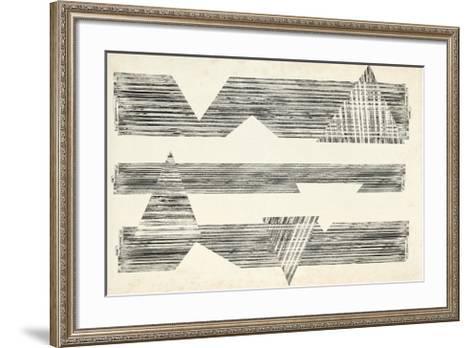 Stagger Triangles I-Jennifer Goldberger-Framed Art Print
