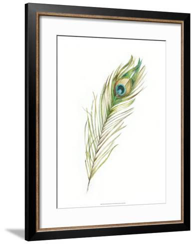 Watercolor Peacock Feather II-Ethan Harper-Framed Art Print