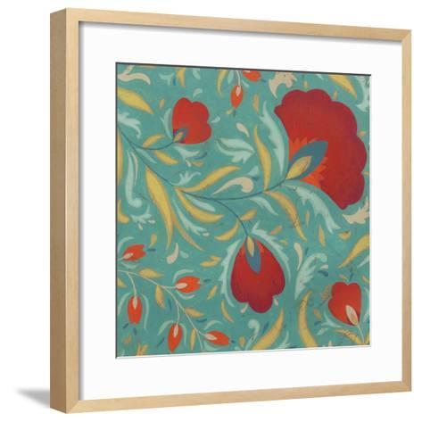 Vibrant Textile II-June Erica Vess-Framed Art Print