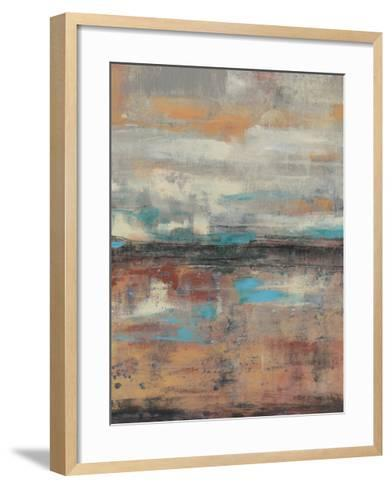 Teal Sunset I-Jennifer Goldberger-Framed Art Print