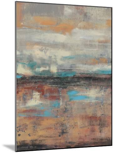 Teal Sunset I-Jennifer Goldberger-Mounted Limited Edition