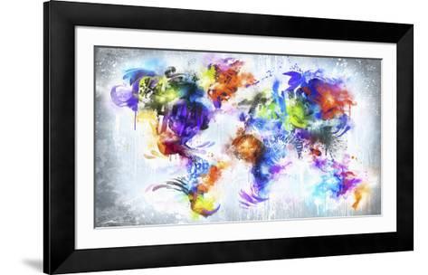 Graffiti Globe--Framed Art Print