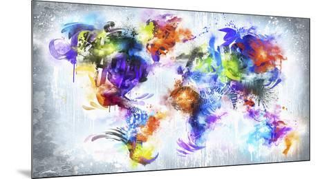 Graffiti Globe--Mounted Art Print