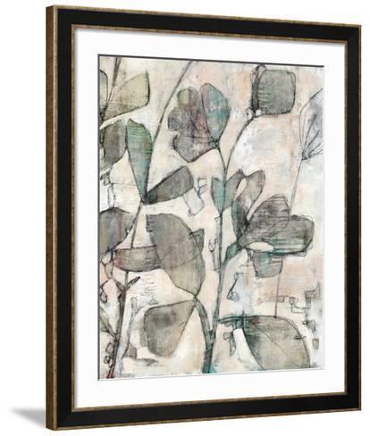 Negative Space Floral II-Jennifer Goldberger-Framed Art Print