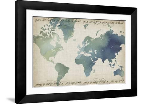 Watercolor World Map-Grace Popp-Framed Art Print