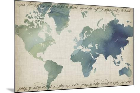 Watercolor World Map-Grace Popp-Mounted Art Print