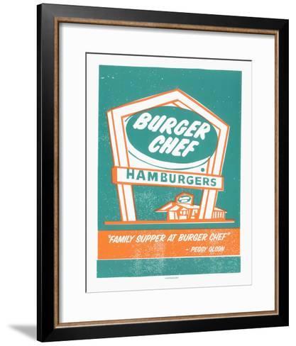 Mad Men Burger Chef-Print Mafia-Framed Art Print