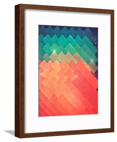 pwwr thyng-Spires-Framed Art Print