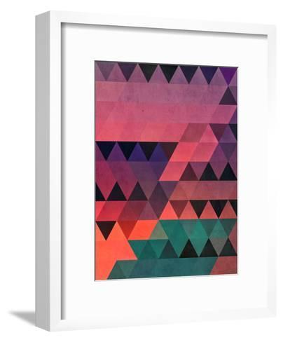 tryy cyty-Spires-Framed Art Print