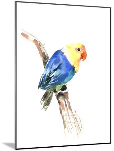 Blue Yellow Lovebird-Suren Nersisyan-Mounted Art Print