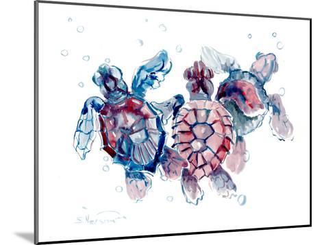 Baby Sea Turtles-Suren Nersisyan-Mounted Art Print