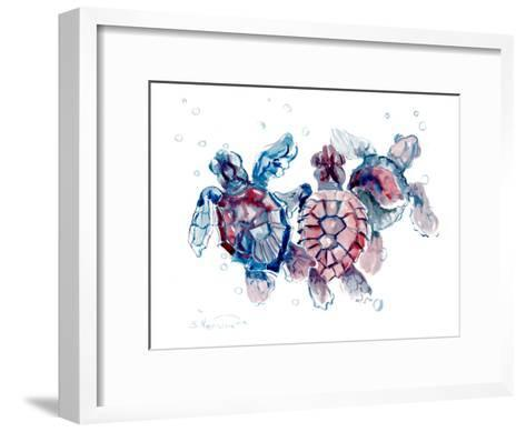 Baby Sea Turtles-Suren Nersisyan-Framed Art Print