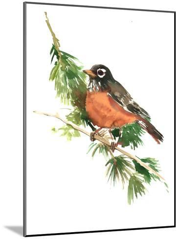 American Robin-Suren Nersisyan-Mounted Art Print