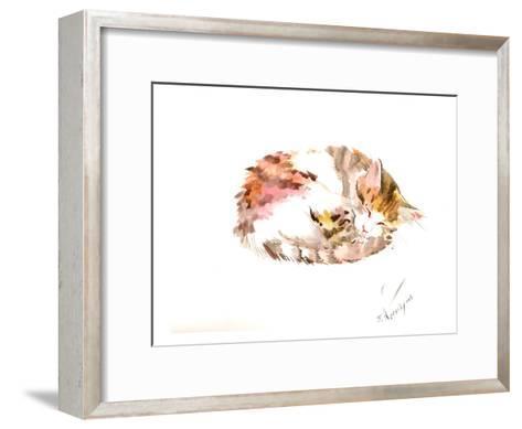 Resting Cat-Suren Nersisyan-Framed Art Print