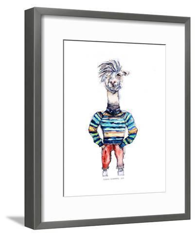 Nigel the Llama-Claudia Libenberg-Framed Art Print