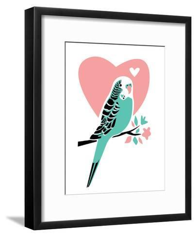 Parakeet-3-Jilly Jack Designs-Framed Art Print