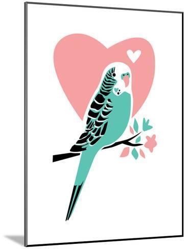 Parakeet-3-Jilly Jack Designs-Mounted Art Print