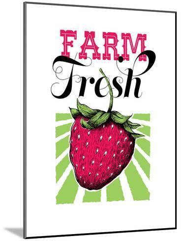 Fruit_strawberry-Jilly Jack Designs-Mounted Art Print