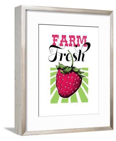 Fruit_strawberry-Jilly Jack Designs-Framed Art Print