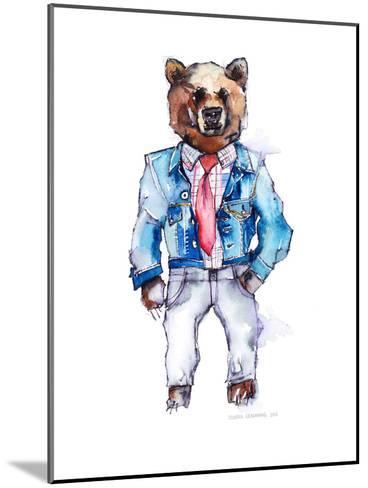 Mac the Bear-Claudia Libenberg-Mounted Art Print