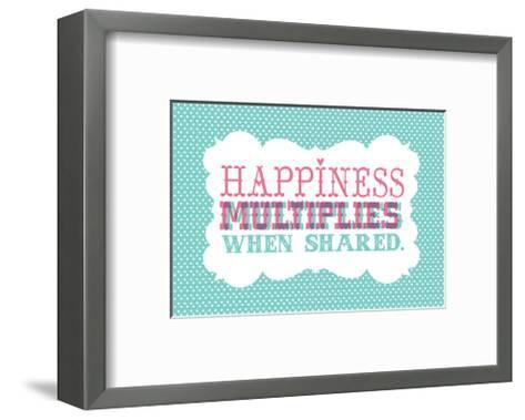 Typography_Happiness-Jilly Jack Designs-Framed Art Print