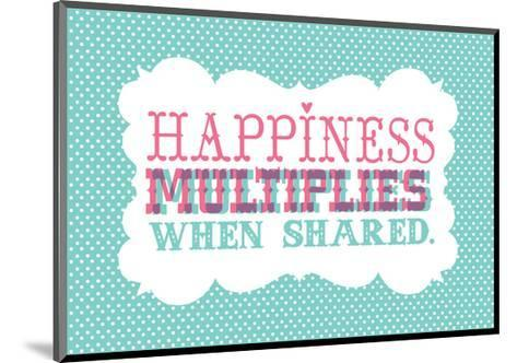 Typography_Happiness-Jilly Jack Designs-Mounted Art Print