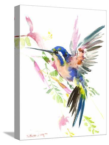 Hummingbird Flying-Suren Nersisyan-Stretched Canvas Print