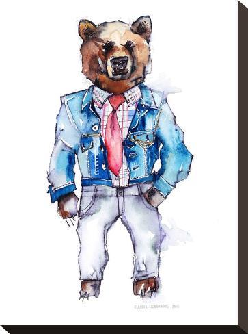Mac the Bear-Claudia Libenberg-Stretched Canvas Print