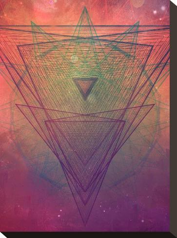 pyrymyd xrayyll-Spires-Stretched Canvas Print