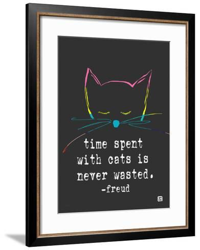 Time spent with cats-Lisa Weedn-Framed Art Print