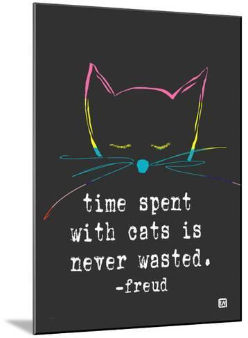 Time spent with cats-Lisa Weedn-Mounted Giclee Print